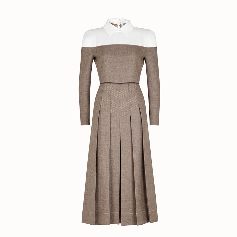 Dress - Grisaille wool dress