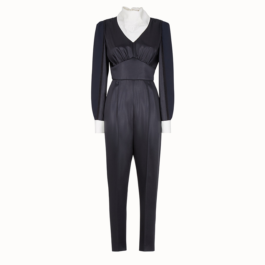Jumpsuit - Blue satin jumpsuit