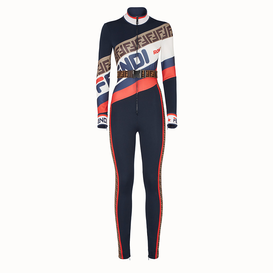 Jumpsuit - Multicolour jersey jumpsuit