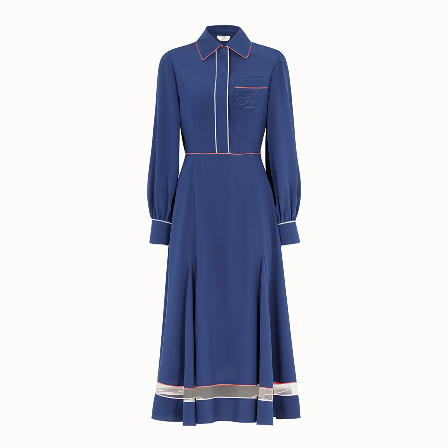 Dress - Blue silk dress