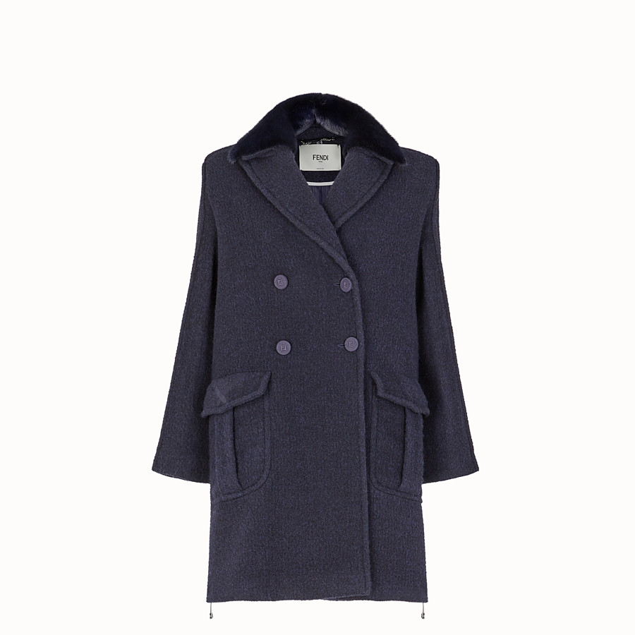 Overcoat - Blue wool outerwear