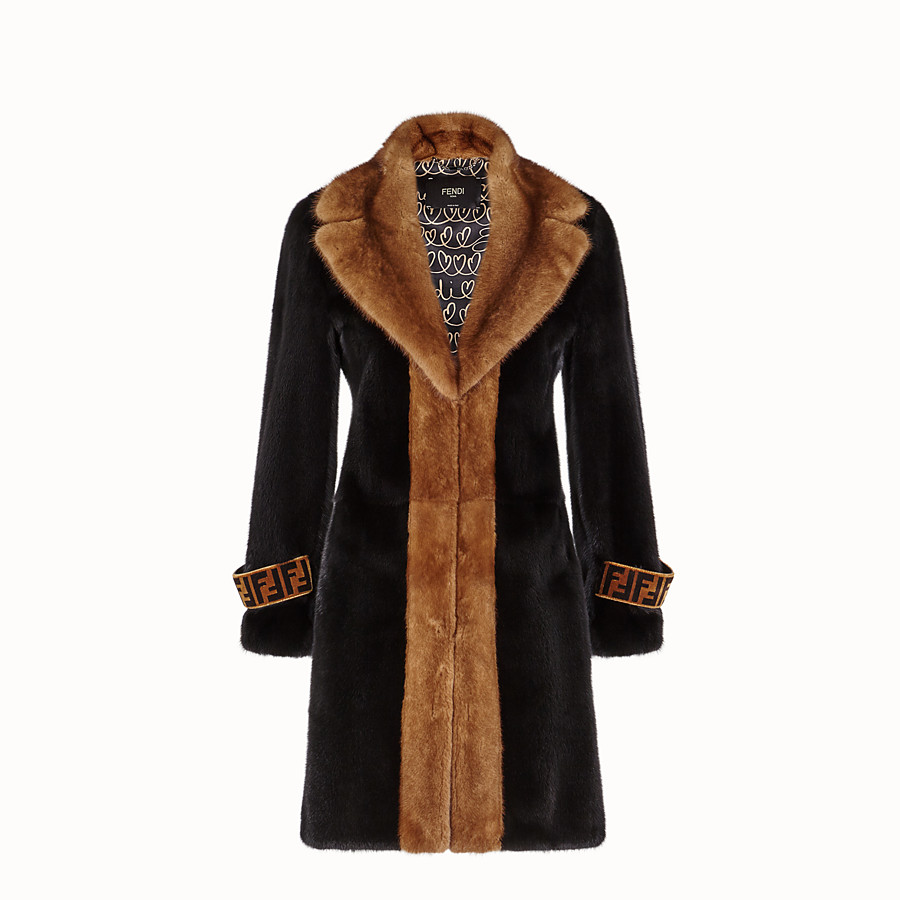 Coat - Multicolour fur coat