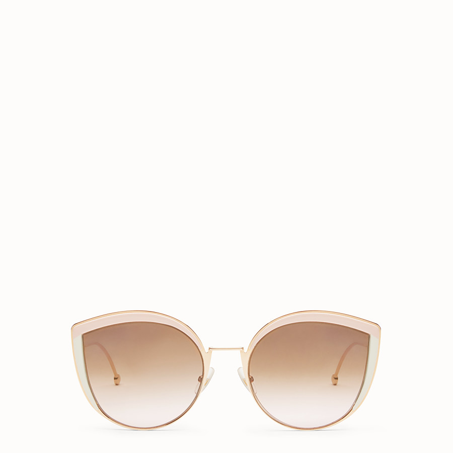 F Is Fendi - Copper-colour sunglasses