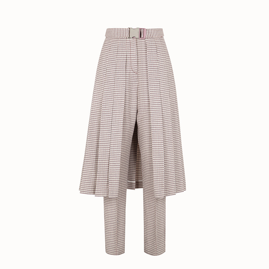 Trousers - Micro-check fabric trousers