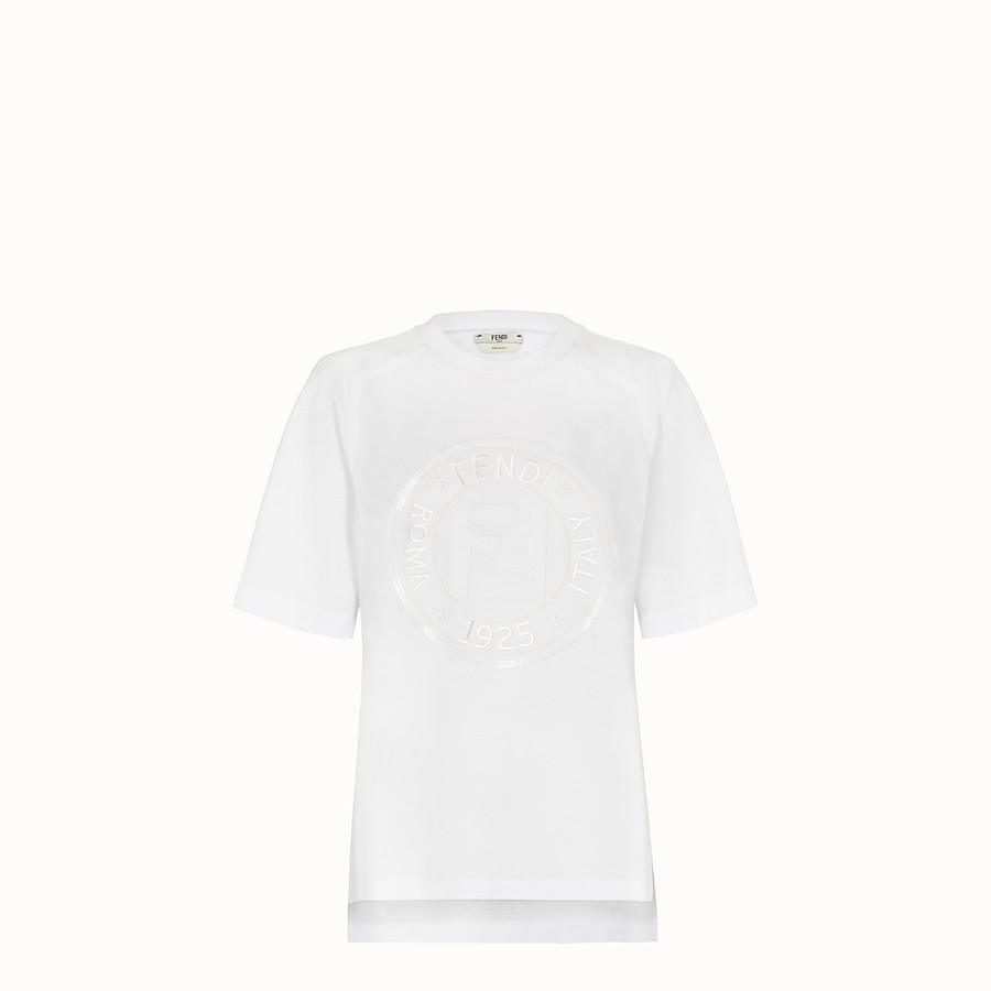T-Shirt - White cotton T-shirt