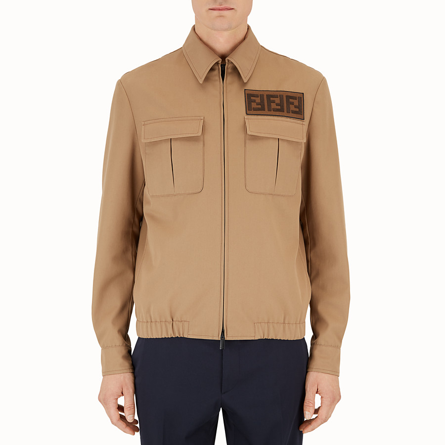 Jacket - Brown gabardine jacket