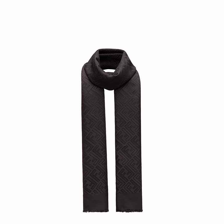 Signature Stole - Black silk stole