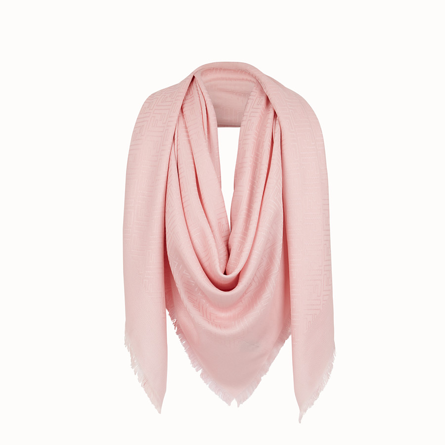 Ff Shawl - Pink silk and wool shawl