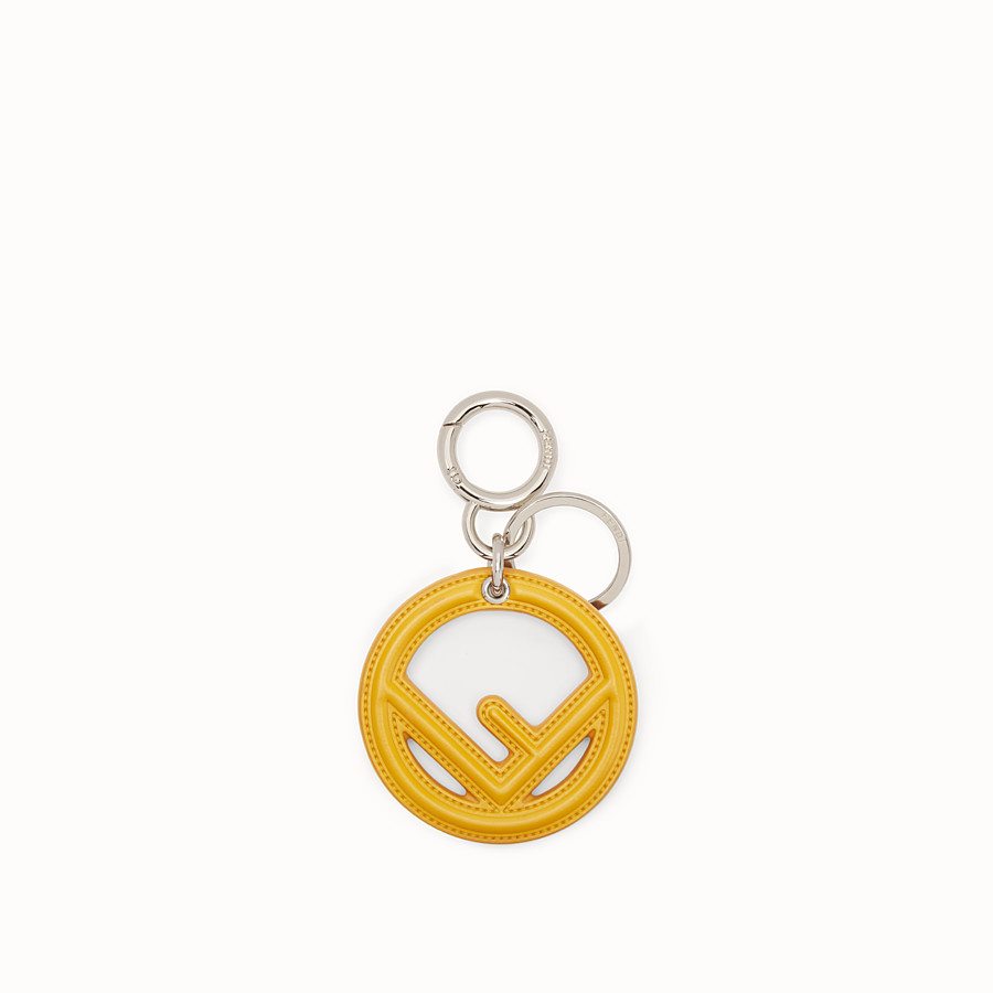 Key Ring - Yellow leather key ring