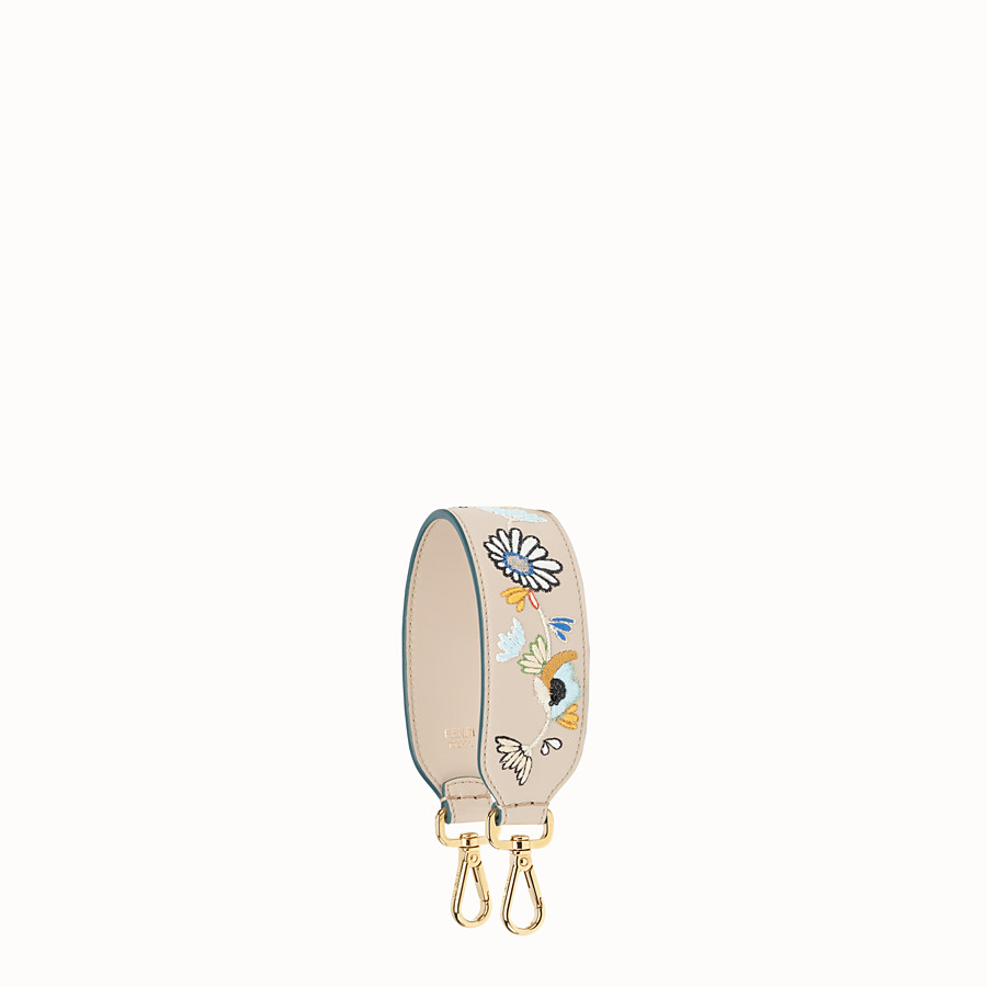 Mini Strap You - Embroidered leather shoulder strap