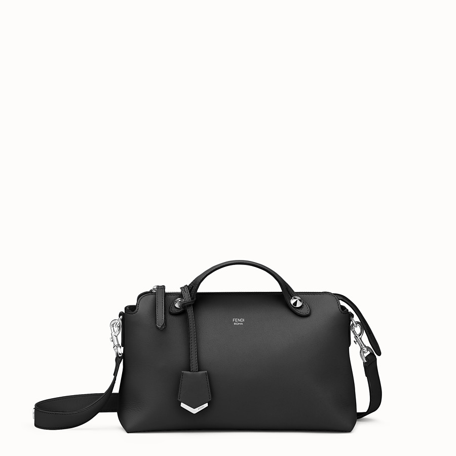 By The Way Regular - Small Boston bag in black leather