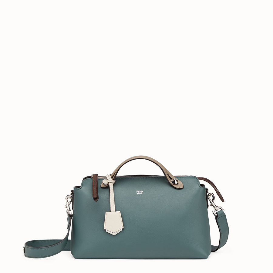By The Way Regular - Small green leather Boston bag