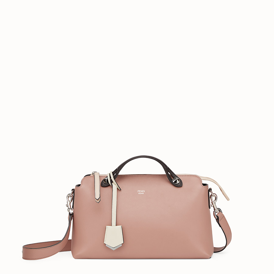 By The Way Regular - Pink leather Boston bag