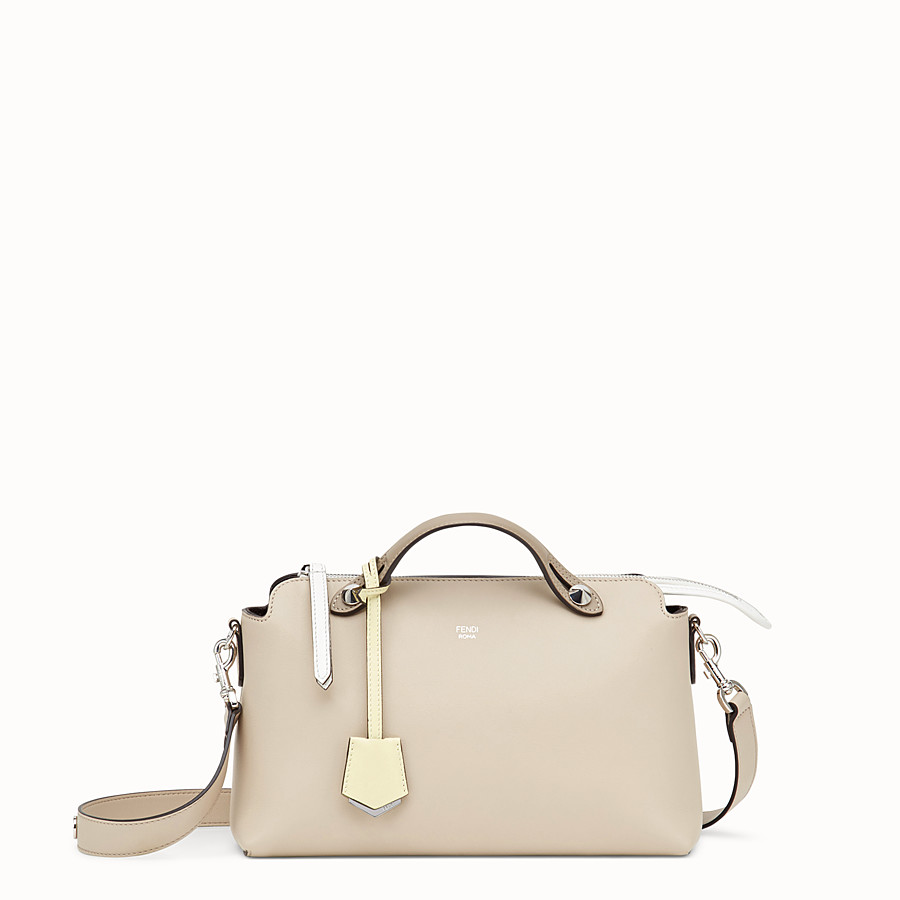 By The Way Regular - Beige leather Boston bag