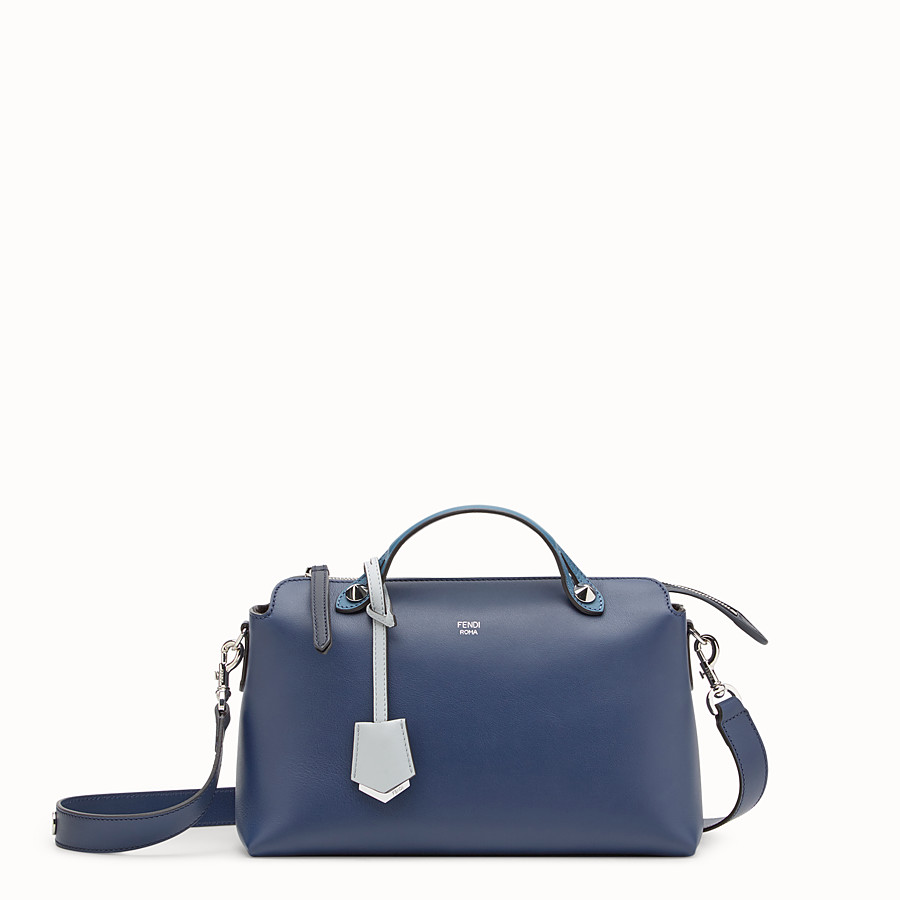 By The Way Regular - Blue leather Boston bag