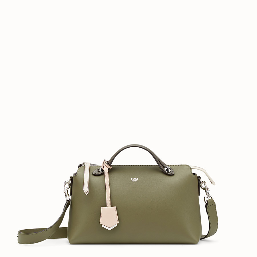 By The Way Regular - Green leather Boston bag