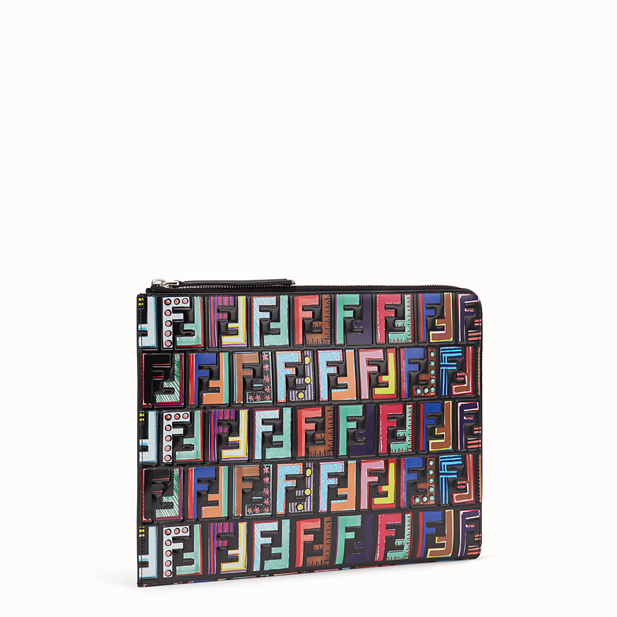 Flat Clutch - Multicolor leather pouch