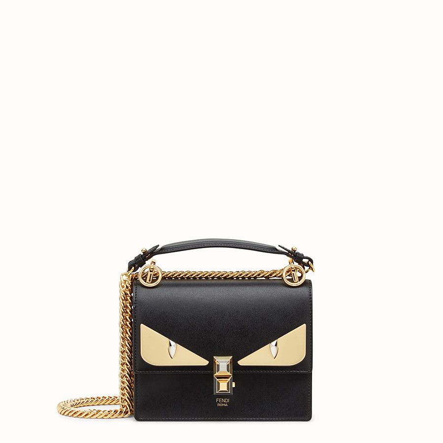 Kan I Small - Black leather mini-bag