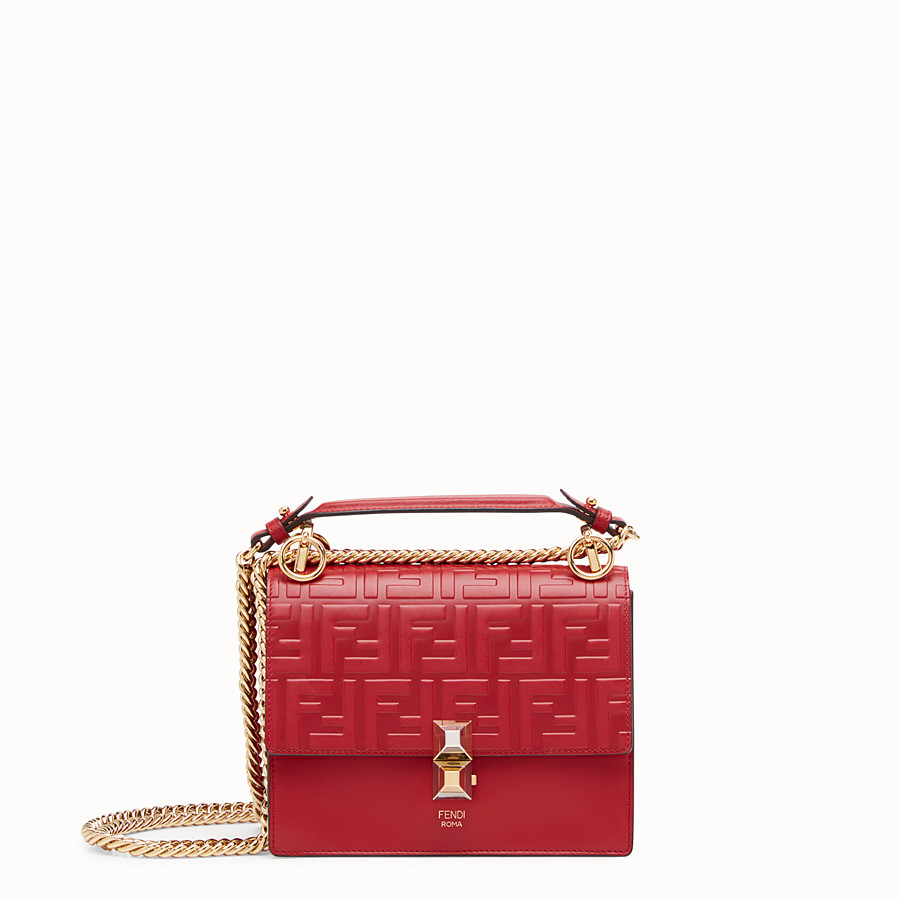 Kan I Small - Red leather mini-bag
