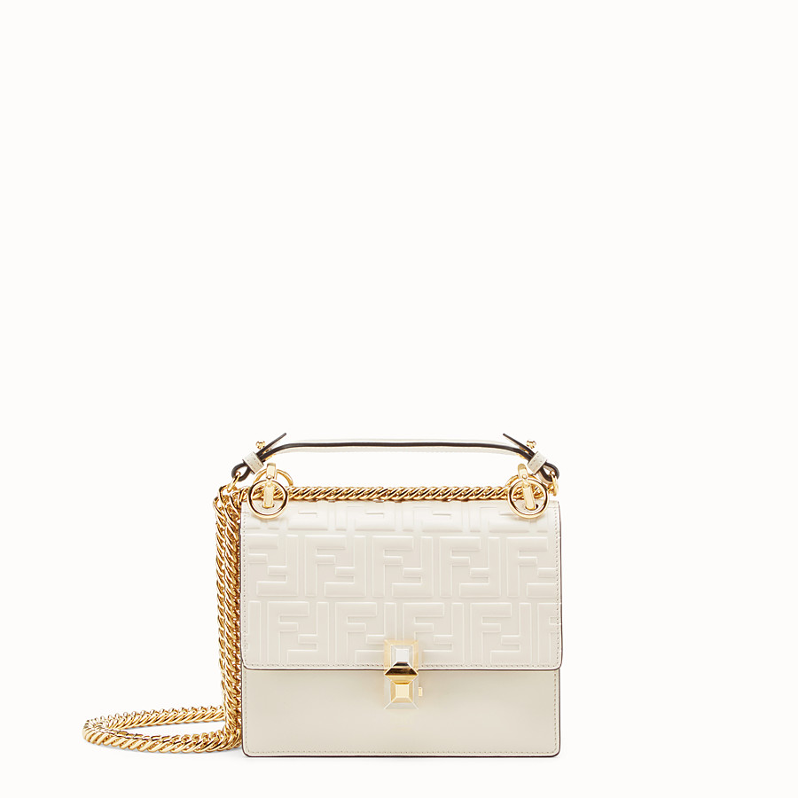 Kan I Small - White leather mini-bag