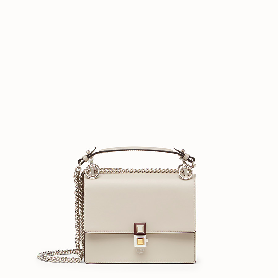 Kan I Small - Mini-bag in powder grey leather