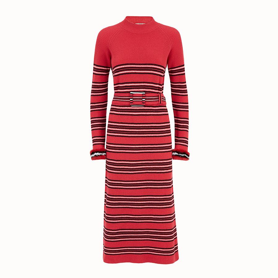 Dress - Multicolour wool and cashmere dress