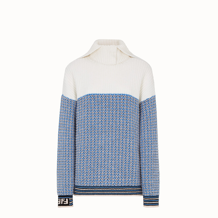 Pullover - Micro-check wool jumper